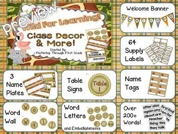 Classroom Decor Editable ~ Jungle Theme