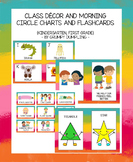 Class Decor and Morning Circle Charts and Flashcards Bundl