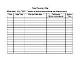 Class Departure Log - Sign Out Sheet