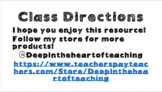 Class Step-by-Step Directions
