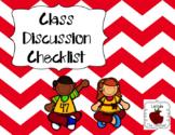 Class Discussion Checklist