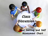 Exit Slip for Class Discussions - Goal Setting & Self Asse