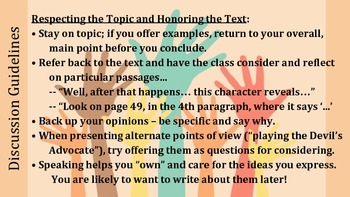 Class Discussion Guidelines