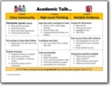 Academic Talk Class Discussion Rules