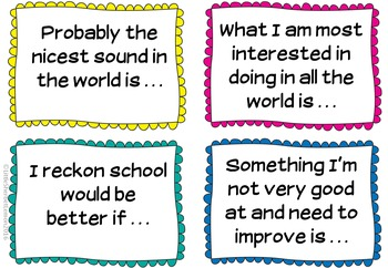 Class Discussion Starter Cards