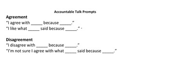 Class Discussion/Accountable Talk Rubric Sample