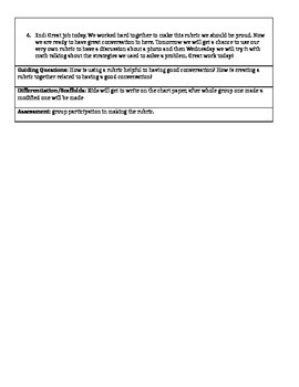 Class Discussion/Accountable Talk Written Lesson Plan