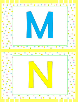 Class Display - ABC - Alphabet IN COLOR - PRINTABLES