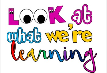 Classroom 'Look at what we're learning' lettering display by ...