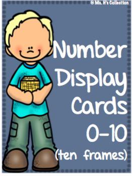 Class Display Numbers 0-10 using Ten Frames