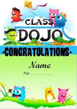 Class DoJo Certificate