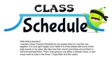 Class DoJo Simple Pocket Chart Schedule