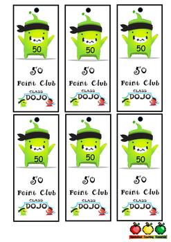 Class Dojo 50 point club