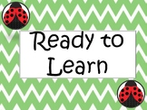 Class Dojo Behavior Clip Chart with Ready to Learn Editable