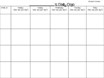 Class Dojo Behavior Log