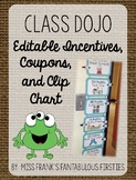 Class Dojo Behavior Management - Editable Incentives & Clip Chart (Burlap)