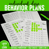 Class Dojo // Daily Individual Behavior Plan