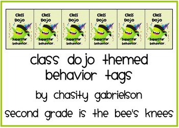 Class Dojo Behavior Tags