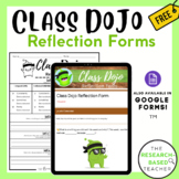 Class Dojo Reflection Forms (Printable and Digital)