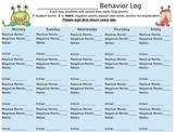 Customizable Class Dojo Behavior log