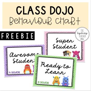 Class Dojo Behaviour Chart [FREEBIE]