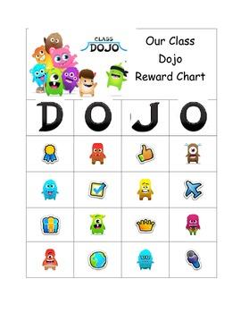 Class Dojo Bingo Board