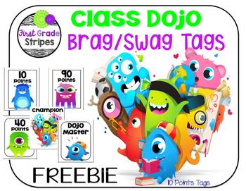 Class Dojo Brag/Swag Tags