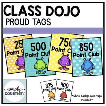 Class Dojo Brag Tags