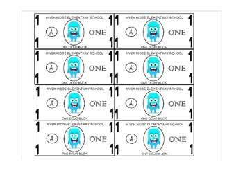 Class dojo bucks by katie aleman teachers pay teachers for Classroom bucks template