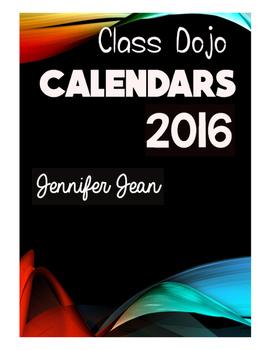 Class Dojo Calendars 2016