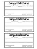 Class Dojo Certificates