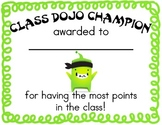 Class Dojo Champion Certificate