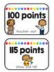 Class Dojo Clip Chart (Black, White and Rainbow)