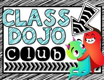 Class Dojo Club Display and Printable Avatars