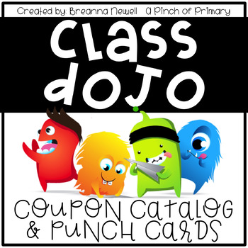EDITABLE Class Dojo Coupon Catalog