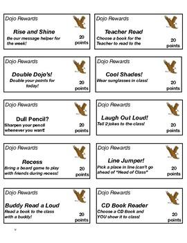 Class Dojo Coupons Eagles Theme + Editable