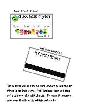 Class Dojo Credit Cards