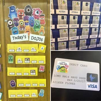 Class Dojo Debit Card Template