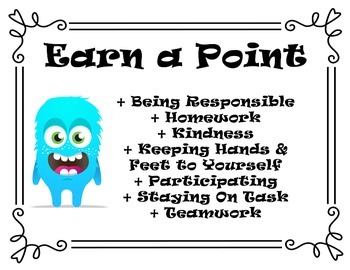 Class Dojo Earn a Point Door List