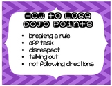 Class Dojo Earning and Losing Points Posters