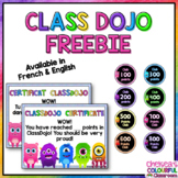 ClassDojo FRENCH & ENGLISH Awards (FREEBIE)