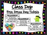 Class Dojo Free Dress Day Reward Tickets