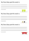 Class Dojo Goal Setting
