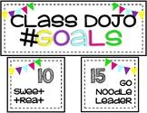Class Dojo Goals- Rewards Display