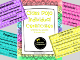Class Dojo Individual Reward Poster and Certificates!
