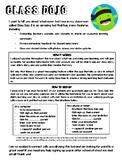 Class Dojo Introduction Letter for Parents