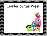 Class Dojo Leader of the Week Sign