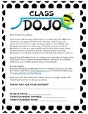 Class Dojo Letter to Parents