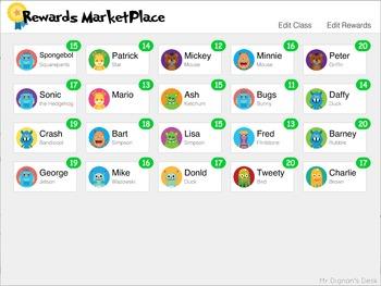 ClassDojo Rewards System - Rewards MarketPlace - FREEBIE