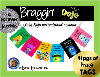 Class Dojo Motivational Brag Tags {41 pages!}